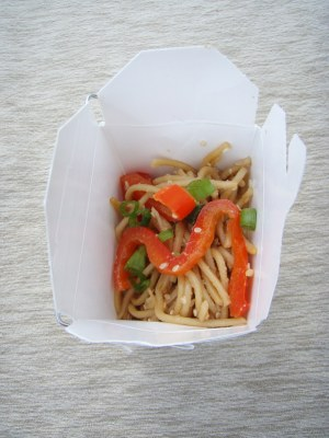 Sesame Noodles with Tofu and Red Peppers