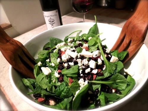 Fall Menu Ideas: Spinach Salad